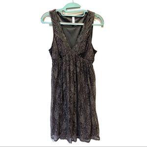 xhilaration gray lace sleeveless dress large